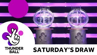 The National Lottery 'Thunderball' draw results from Saturday 17th March 2018