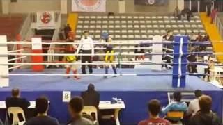 Furkanin muay thai maçı kazanan mavi köşe