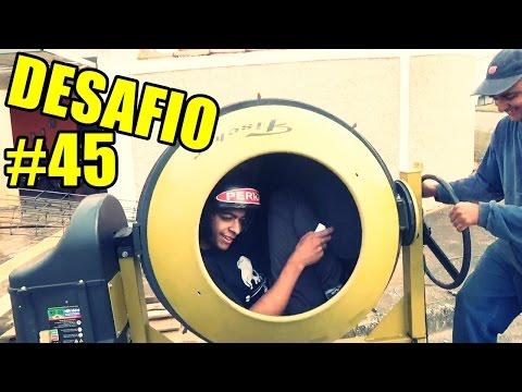 ENTRANDO NUMA BETONEIRA DESAFIO #45