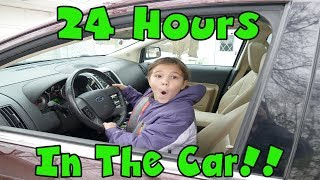 24 Hours Trapped In A Car! 24 Hours Overnight In A Car! 24 Hour Challenge With LOL Dolls