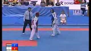 72kg MALE SEMIFINAL -  (TPE) vs (NED) (2007 Taekwondo World Championship )
