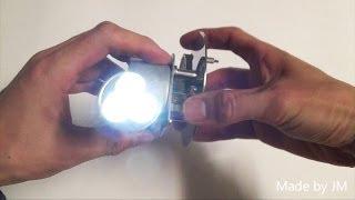 Homemade hand crank flashlight