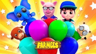 Balloon Over The Moon | Songs And Videos For Kids by Farmees