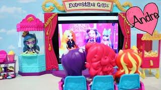 MLP Equestria Girls van al cine | Muñecas y juguetes con Andre para niñas y niños