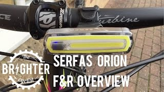 Serfas Orion F&R  commuter bike light overview