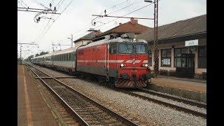 ESI060913 Slovenia Euro City train SŽ 342-023 lokomotiva potniški vlak Slovenske železnice Rače