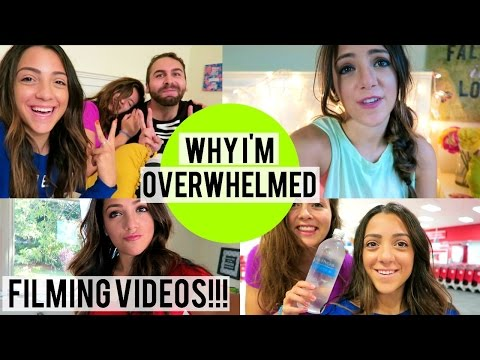 WHY I'M OVERWHELMED!  Filming videos + Best friend Night!