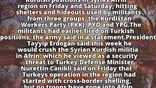 Turkish army shells Kurdish positions in Syria
