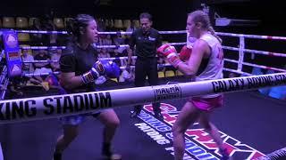 Iris (Sinbi Muay Thai) from France  fights at Galaxy Stadium