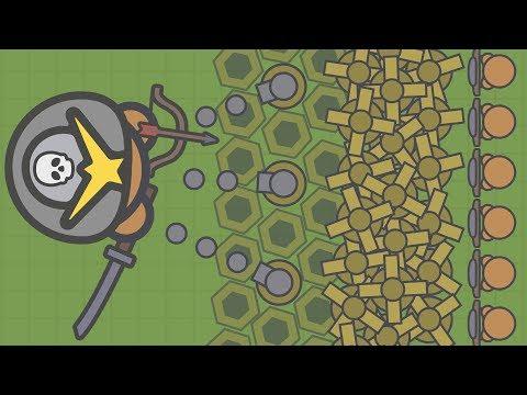 MOOMOO.IO - DESTROYING BASES! SAMURAI + KATANA + BOW COMBO! (Moomoo.io Gameplay)