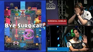 SURGICAL GOBLIN VS DIEGO | Clash Royale Super Magical Open Play 2018
