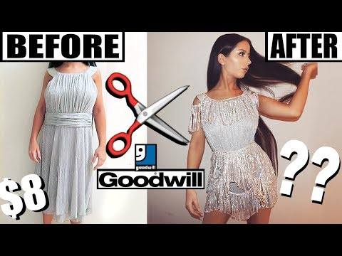 DIY THRIFT STORE PARTY DRESS MAKEOVER
