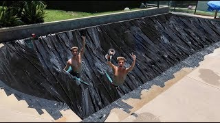 WE DUCT TAPE THE POOL *gone wrong*