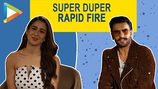 Ranveer Singh & Sara Ali Khan are ROCKING it in this QUIRKY rapid fire game