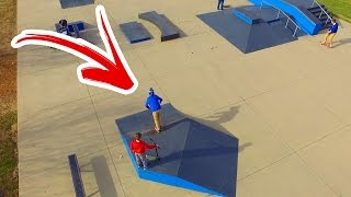 THIS WAS SO FUN!! LEARNING NEW TRICKS AT THE SKATEPARK! MORE DRONE EDITS!
