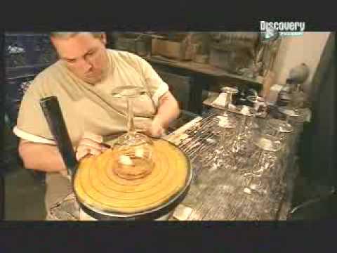 como se hacen los vasos de cristal