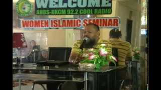Aleem Dariday(Mansawe) Mimbalawag (Part 1) @ Cool Radio Islamic Seminar