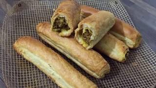 Mince Puff Roll (how to make mince roll) ramadan recipes