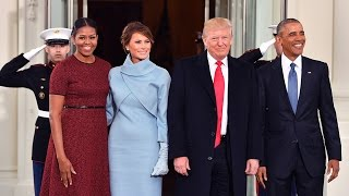 Barack and Michelle Obama Bid Farewell to the White House as Donald Trump is Inaugurated