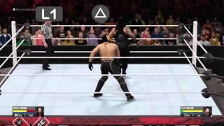 Como hacer remate aéreo WWE 2K16