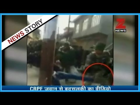 Watch - Video shows Indian security personnel being attacked by Kashmiri youths