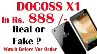 Docoss X1 Mobile in Rs 888INR Real Or Fake