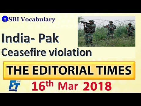 Xxx Mp4 India Pak Ceasefire Violation The Hindu The Editorial Times 16th March SSC Bank 8 Am 3gp Sex