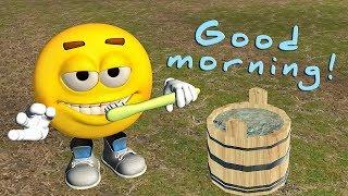 Funny Good Morning video. Emoji wishes Good Morning