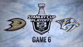 Anaheim Ducks vs Nashville Predators. Game #6. PlayOffs NHL 2016