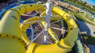 Termy Uniejów - Yellow Waterslide | Zjeżdżalnia żółta Onride POV