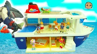 Shark Attack On Strange Cruise Ship Trip - Shopkins Happy Places Shoppies Rainbow Kate Vacation