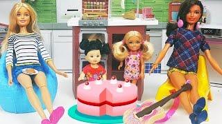 Barbie Evi Mutfak Düzenleme ve Pasta Günü   Nasıl Yapılır   Oyuncak Butiğim
