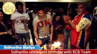 Sidhartha Mallya celebrates birthday with RCB Team
