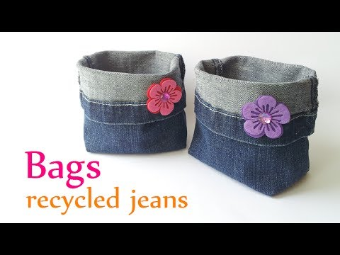 DIY crafts: BAGS recycled jeans (very EASY) -  Innova Crafts