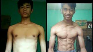 1 bulan transformasi body..push up challenge 200 in a day