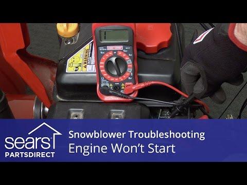 Engine Won't Start: Snowblower Troubleshooting
