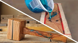 How To Make An EPOXY Inlaid Wooden Mallet - Epoxy Resin & Woodworking