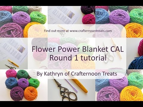 Xxx Mp4 Week 1 Tutorial The Flower Power Blanket CAL 3gp Sex
