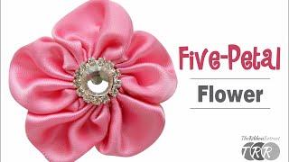 How to Make a Five Petal Flower - TheRibbonRetreat.com
