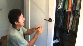 How to unlock a bedroom or bathroom door