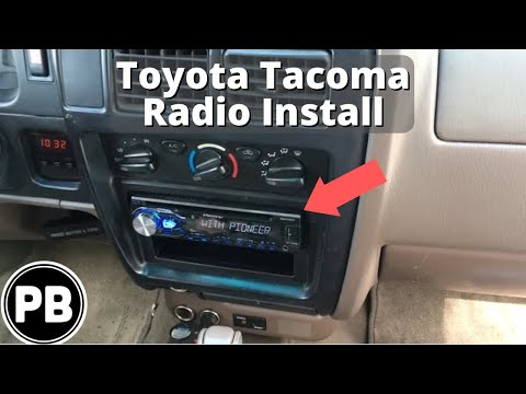 1998 - 2004 Toyota Tacoma Stereo Install Pioneer DEH-X4800BT