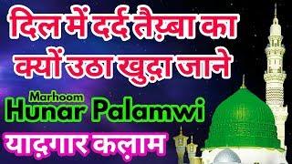 Marhoom Hunar Palamwi का एक बेहद प्यारा कल़ाम सुने़__दिल में दर्द तैय़्बा का