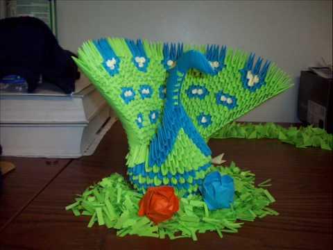 Origami Peacock