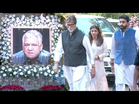 Bollywood Celebs की  Om Puri को श्रद्धांजलि Full Video HD - Amitabh,Aishwarya Rai,Abhishek Bachchan