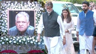 Bollywood Celebs की  Om Puri को श्रद्धांजलि Full Video HD - Amitabh,Aishwarya Rai,Abhishek Bachchan
