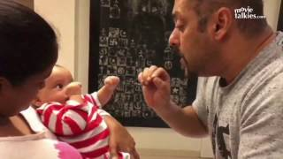 Salman Khan & Sanjay Dutt Playing With Sister Arpita's CUTE Son Aahil