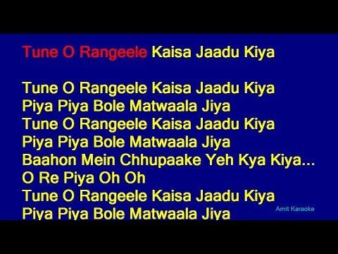 Xxx Mp4 Tune O Rangeele Kaisa Jaadu Kiya Lata Mangeshkar Hindi Full Karaoke With Lyrics 3gp Sex