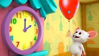 Hickory Dickory Dock | Kindergarten Nursery Rhymes for Children | Cartoons by Little Treehouse