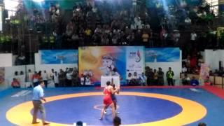 Gulat PON XIX 2016 - Jabar (Blue) vs Kalsel (Red) 71 Kg GR babak 2