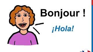 Curso de francés 3 - Cómo saludar y presentarse en francés - Expresiones Palabras básicas